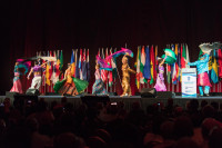 Dancers perform in cultural tribute during Opening Ceremony