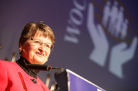 WOCCU Director Penny Reeves of Canada was Tuesday's Master of Ceremonies.