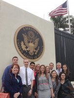 U.S. interns at U.S. Embassy in Costa Rica