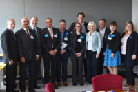 From left: Andrus Rikstok, Estonian Union of Credit Cooperatives; Florin Simion, Federation of Romanian Credit Unions; Michael Edwards, World Council of Credit Unions; Pawel Grzesik, National Association of Co-operative Savings and Credit Unions of Poland; Matt Bland, Association of British Credit Unions, Ltd.; Breege-Anne Murphy, Irish League of Credit Unions; MEP Paul Tang; MEP Marian Harkin; Ed Farrell, Irish League of Credit Unions; Lyudmila Kravchenko, Ukrainian Association of Savings and Credit Unions; Georgie Friedrichs, Dutch Association of Cooperating Credit Unions.