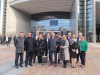 Representatives from Irish League of Credit Unions (ILCU), Vereniging Samenwerkende Kredietunies (VSK), C.A.R. Federation (FEDCAR), Savings House (FULM), Instinctif Partners and National Association of Co-operative Savings and Credit Unions (NACSCU) attend meeting.