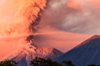 Volcan de Fuego erupts over Guatemala City