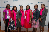 Past GWLN Scholarship winners at the 2019 WCUC in The Bahamas