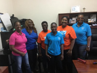 Kaylesa Simmons, second from left, is Chair of The Grand Bahama CCU