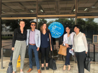 WOCCU VP of Financial Inclusion Megan O'Donnell (far left) and Project Development Officer Grace Vottero (center) with credit union partners in the Philippines