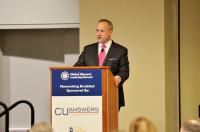 Jim Nussle, CUNA CEO, calls US credit union industry to get engaged and advance women into leadership positions.