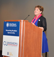 Karen Nussle discusses the gender gap in Congress and the need to prioritize this issue among credit unions. She also introduced husband, and event keynote speaker, Jim Nussle.