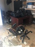 Inside NWCCU's Freeport Branch after Hurricane Dorian