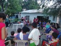 Los Luchadores savings group meeting in La Guajira