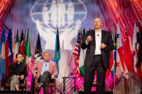 Visa's Todd Mazurek addresses attendees